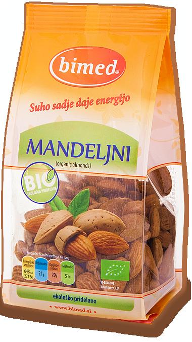 Organic almonds 150g