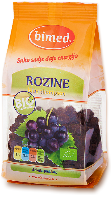 Organic blue thompson raisins 150g
