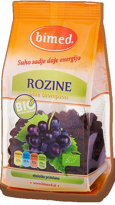 Organic blue thompson raisins 150g