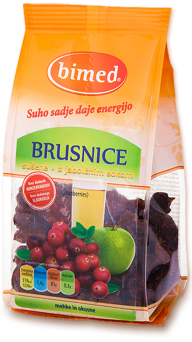 Organic dried sweetened cranberries 150g